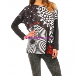t-shirt top blusas inverno marca 101 idees 278 IN Moda Original