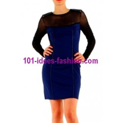 shop dresses tunics winter brand 101 idees 8998AZ outlet