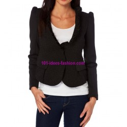 Jacket black bright dy design 1773
